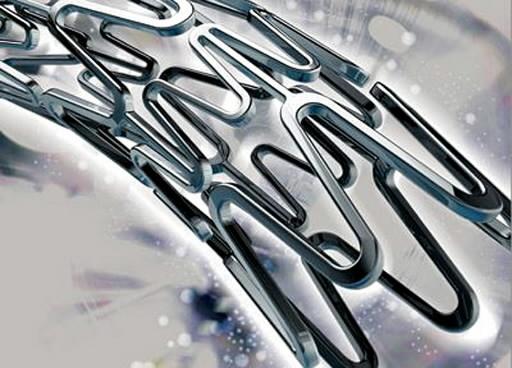 nickel-titanium stent used to prop arteries
