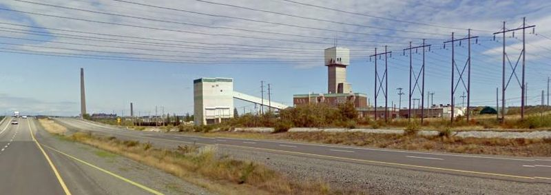 The Copper Cliff South nickel mine in Sudbury, Ont., looking southeast from Highway 55.