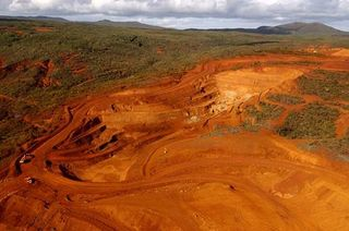 Goro laterite nickel mine in New Calidonia being developed by Vale