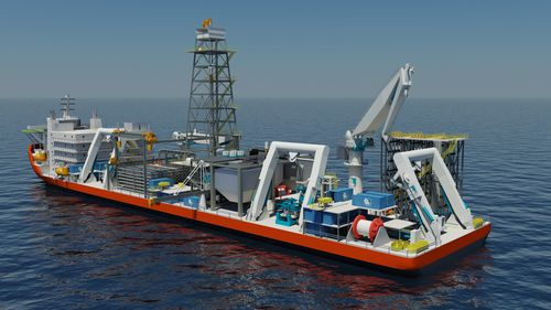 Image of production support vessel from http://www.nautilusminerals.com/i/misc/2011-04-12_NR-02.jpg
